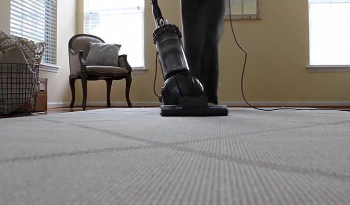 Vacuuming the Flipped Over Side