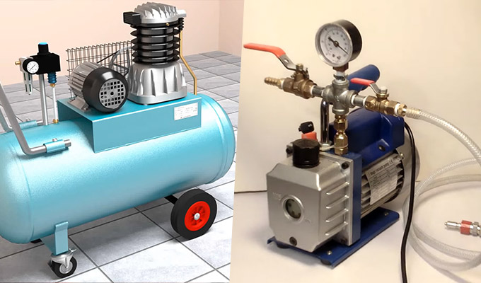 What Is the Difference Between an Air Compressor and a Vacuum Pump